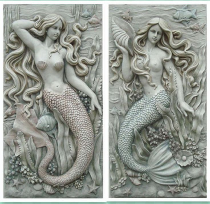 Sculpture arts new house modern home decoration muons mermaid wall hangings embossed mural