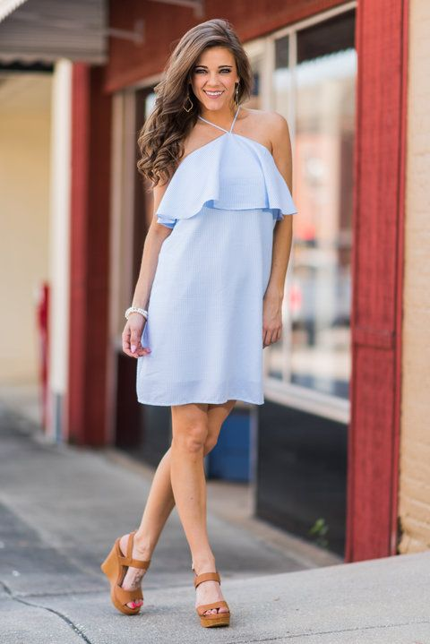 """""""Sweet Summer Days Dress, Light Blue""""This dress is so perfect for warm summer days! It's fabric is so light and breathable! #newarrivals #shopthemint"""