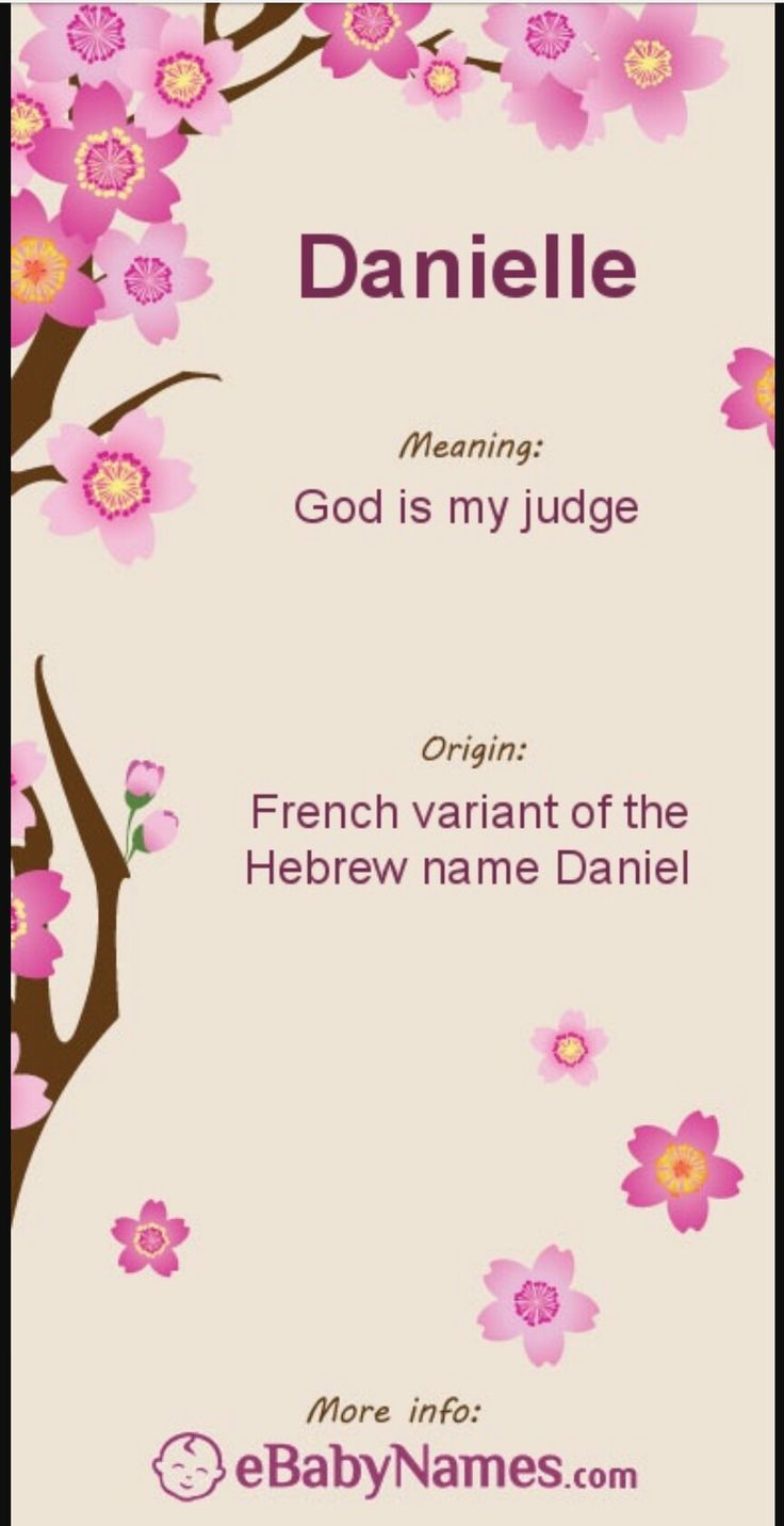 Danielle name meaning