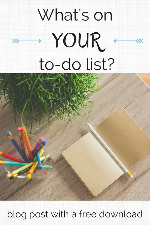 What's on YOUR to-do list? - Colleke Creations