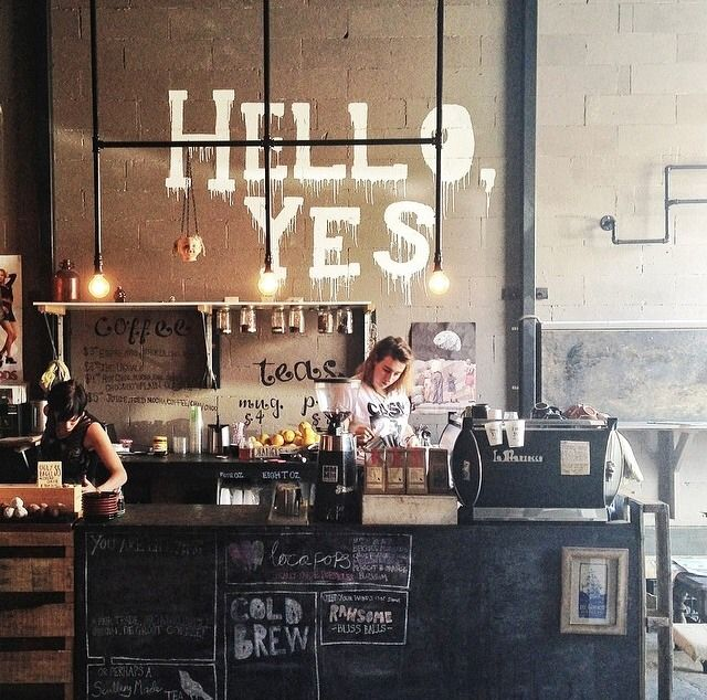 Hello Yes - A cafe tucked away in a warehouse in the Adelaide (Australia) CBD! Serving locally-roasted De Groot Coffee, baked-at-home bagels, a small menu of nice things, & hand-picked records & books. 12 ELIZA STREET, ADELAIDE CBD, 5000. COME HANG OUT!!!!!!!!!!!!!!!!!!!!!!!!!!!!