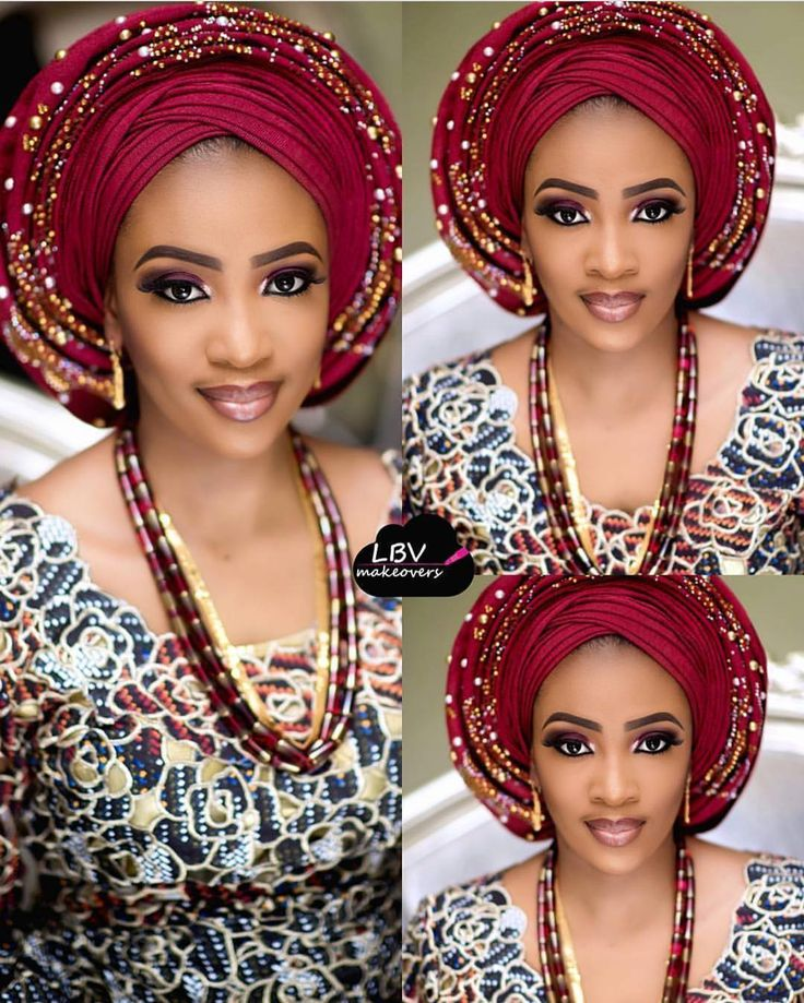 Beautiful Nupe bride Aso oke by @aso_ebi_couture Makeup by @lbvmakeovers