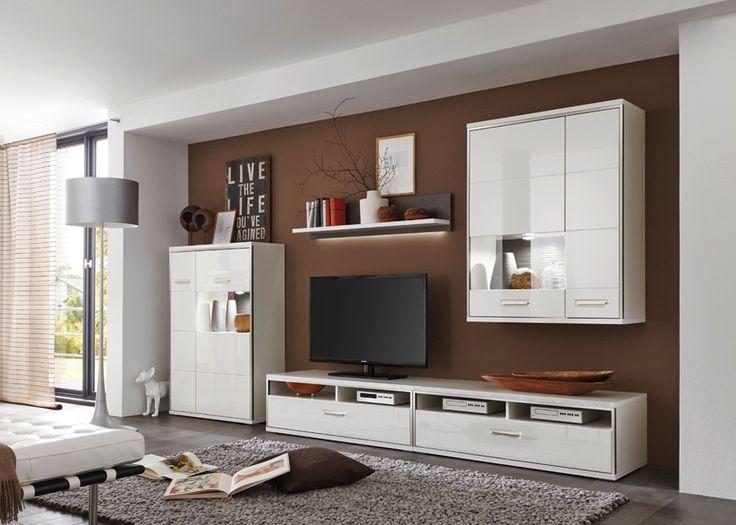 Wohnwand weiß grau hochglanz  104 best Wohnwände images on Pinterest | Buy now, Entertainment ...