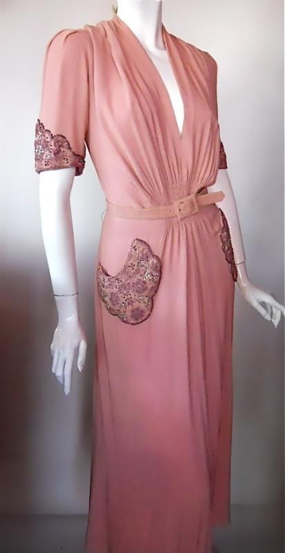 1940s beaded dress, Fashion Originators Guild of America (DCV Archives)