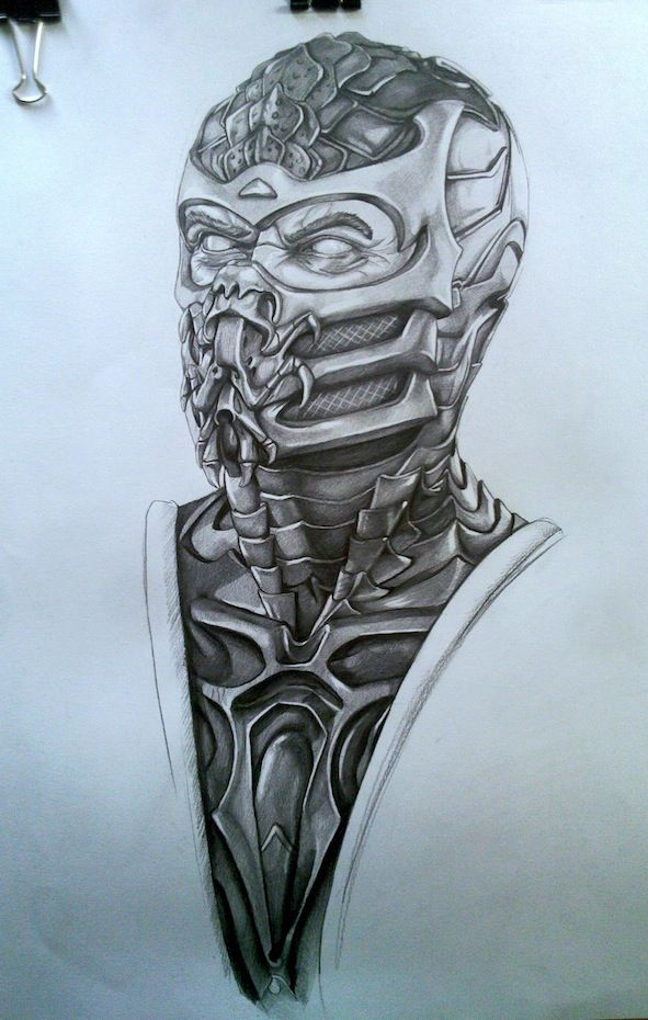Mortal Kombat - Scorpion drawing | Mortal Kombat ...