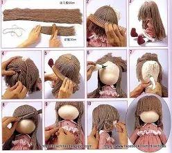 Doll hair photo tutorial