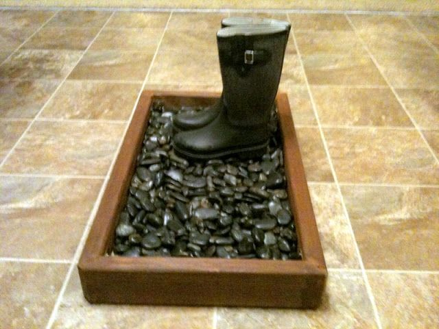 25 best ideas about boot tray on pinterest entryway shoe storage magnolia hgtv and magnolia - No shoes doormat ...