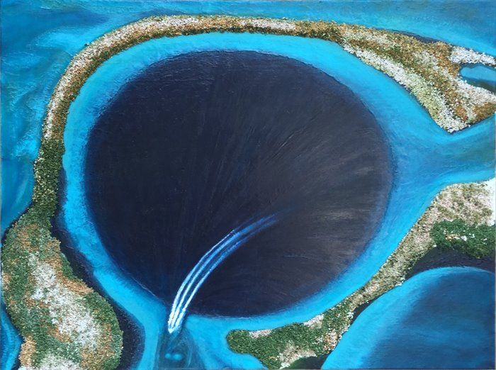 The Whole Holy Hole Thing - Belize by Sharon  Seipelt-Don