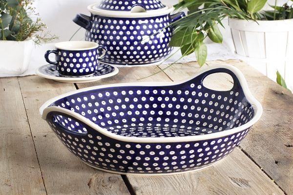 Miska ceramiczna GU-1348 DEK. 42 Bolesławiec 3,5 l