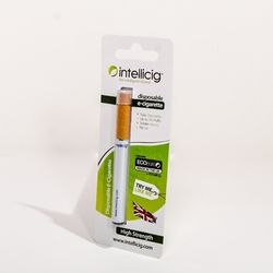 Intellicig Disposable E Cig - Classic Tobacco www.clickacig.com Each Intellicig disposable e cig or electronic cigarette is equal to over 2.5 packs of traditional cigarettes. Comes ready to go, so remove and start puffing!!! This E cig comes in Classic Tobacco flavor.
