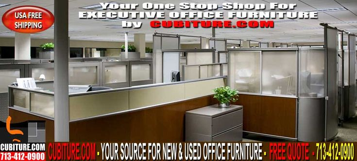Refurbished Executive Office Furniture Sales. Call For A FREE Quote! CUBITURE.COM – YOUR SOURCE FOR NEW & USED Executive Office Furniture. Call Us For A FREE Quote 713-412-0900 OR Visit Our Office Furniture Showroom Located On Beltway-8 between West Little York & Tanner Rd. On The West Side Of Beltway-8 In Houston, Texas Administrative Office Furniture For Sale
