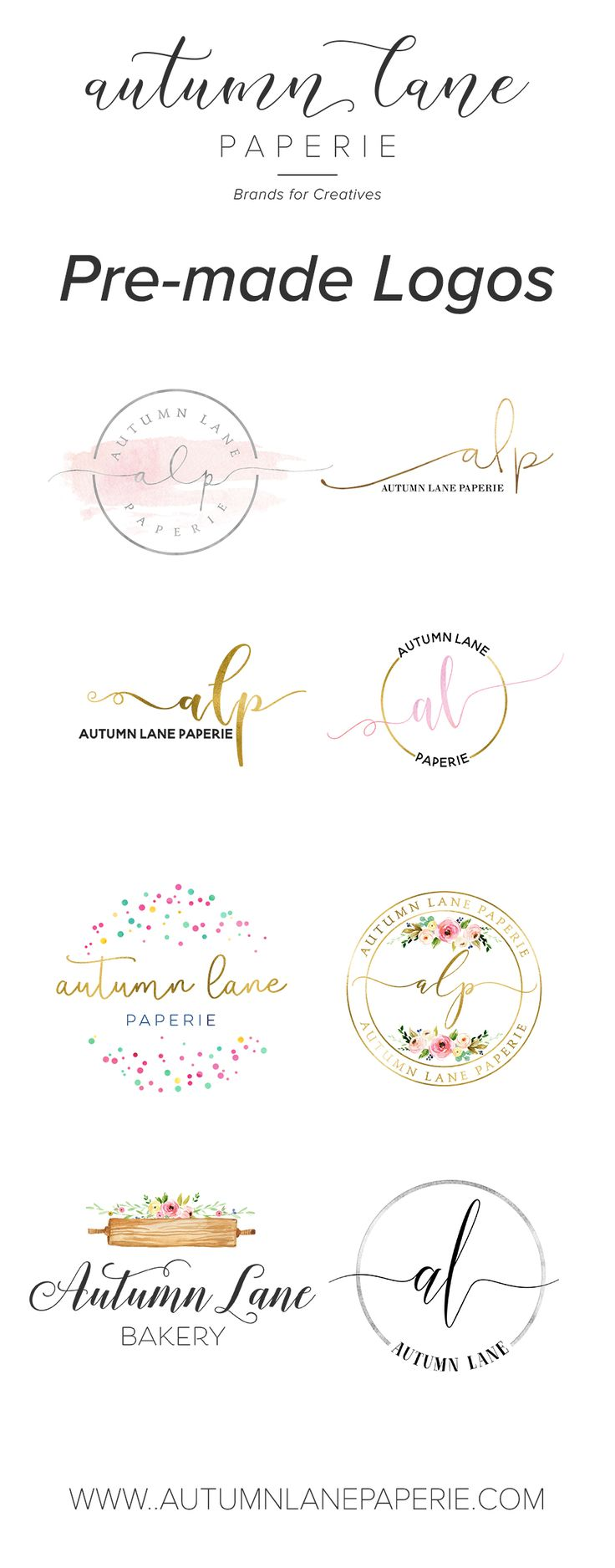 Affordable Premade Logo Designs   Feminine Branding, Premade Brand, Brand  Identity, Small Business