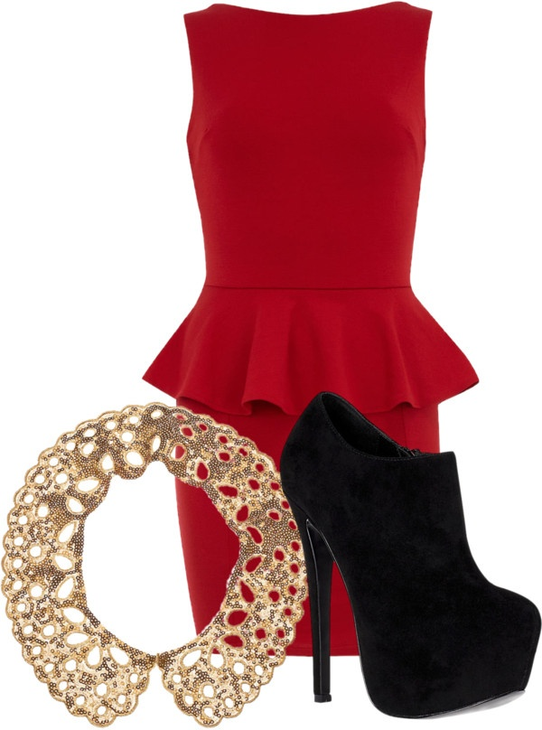 Christmas outfit by dancelovemakeup liked on Polyvore