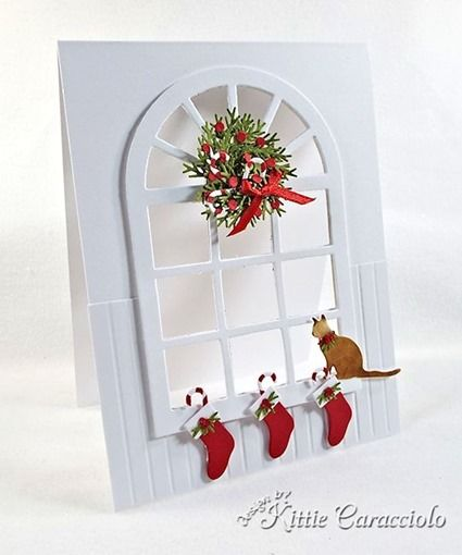 Christmas Window Scene and Mini Wreath Tutorial