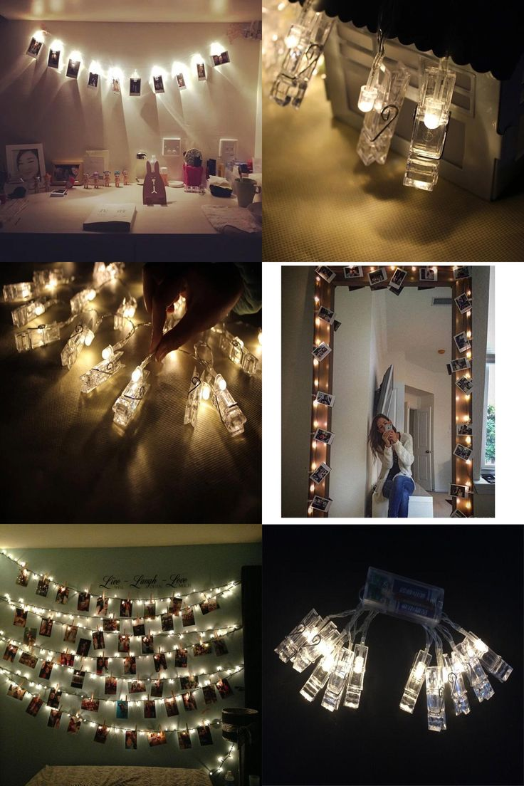 [Visit to Buy] 1M 10led Card Photo clip string lights 3xAA battery Christmas lights new year party wedding home decoration fairy lights battery #Advertisement