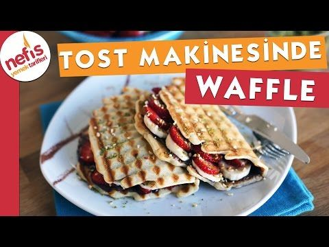 Tost Makinesinde Pratik Waffle Tarifi