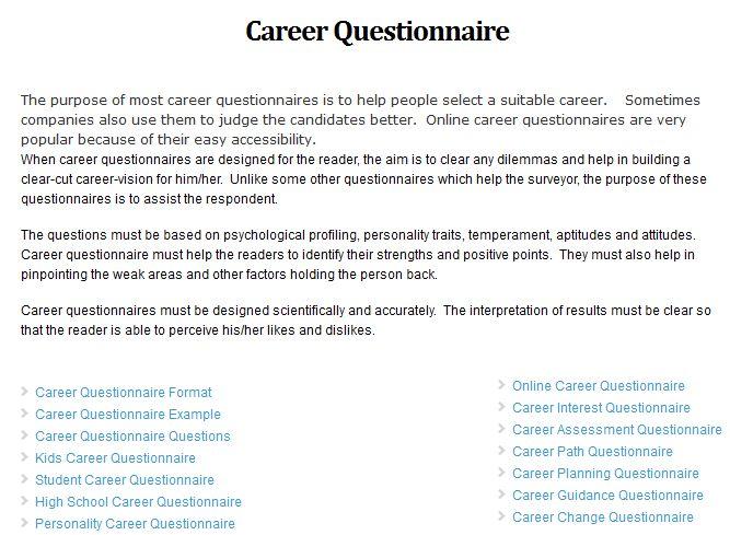 ... Sample Career Assessment Sample Career Goals   Cerescoffee   Career  Assessment Template ...