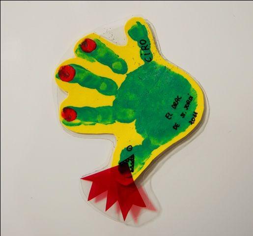 drac de sant jordi facil_manualidades para niños de guardería