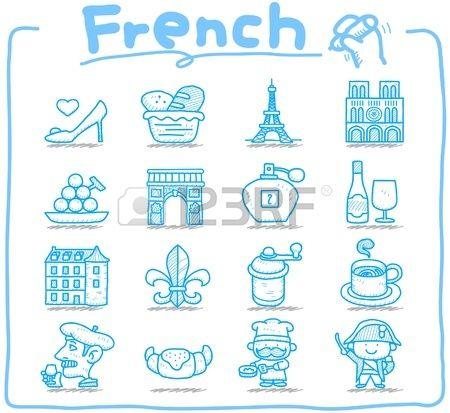 K zzel k sz tett francia eur pai utaz s hat rk ikon llhatatos Stock fotó