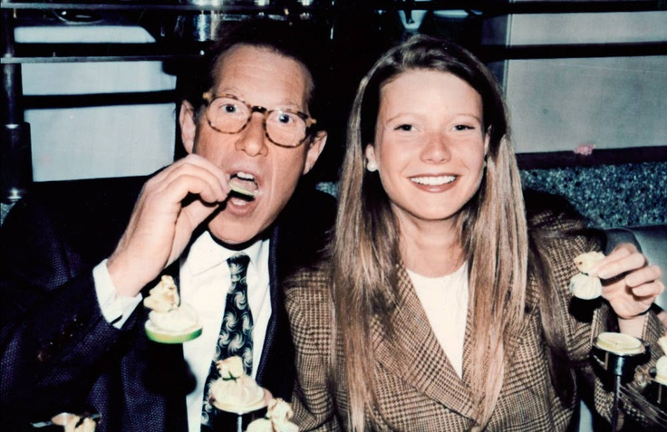 Bruce Paltrow and daughter Gwyneth at the Quilted Giraffe -- Photograph Courtesy of Barry Wine Archive