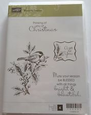 BEAUTIFUL SEASON. Stampin Up Christmas 4 pc Clear mount Rubber Stamp Set. in Crafts, Stamping & Embossing, Stamps | eBay