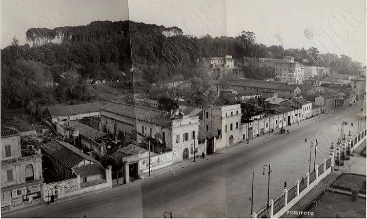 Via Flaminia, con il Borghetto omonimo davanti al Ministero della Marina Anno: 1935