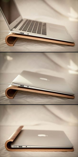 Laptop stand in walnut!