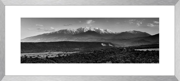 MOUNTAIN OF GODS | Panoramic landscape photography, mountain, Mt. Olympus, Greece, wall art, fine art print, canvas prints by KBphotostudio on Etsy