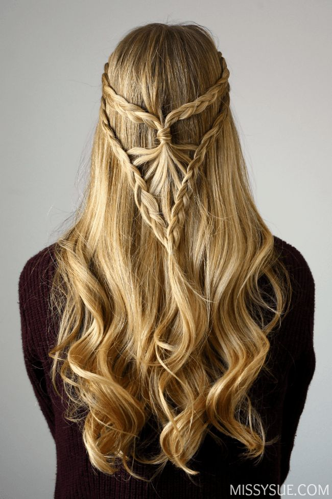 Bohemian Arrowhead Braid | Prom hair, Prom hair updo, Long ...