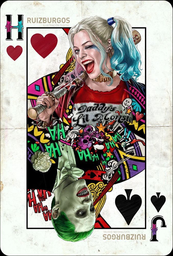 Harley Quinn und Rotkehlchen