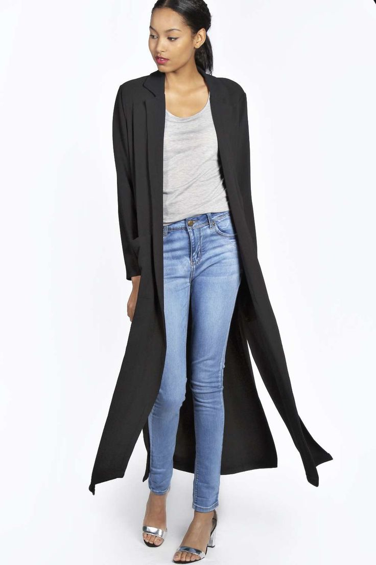 11 best Duster Coat ideas images on Pinterest | Black, Boohoo and ...