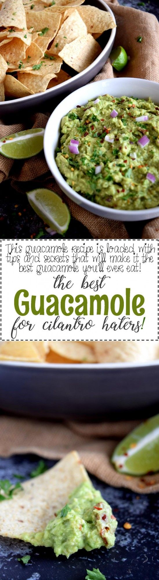 Guacamole for Cilantro Haters - This guacamole recipe is for the picky eater; we all have at least one in our lives!  Guacamole for Cilantro Haters has three things that make it different than any other guacamole recipe.  Cilantro haters, this one is for you!