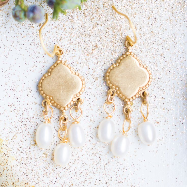 Fresh Water Pearls Chandelier Earrings, Pearl wedding Earrings, Pearl Chandeliers, Little Pearl Earrings by NestPrettyThingsShop on Etsy https://www.etsy.com/listing/464104054/fresh-water-pearls-chandelier-earrings