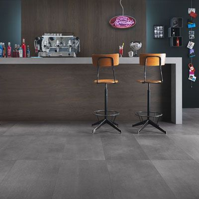 Porcelain stoneware tiles concrete effect District