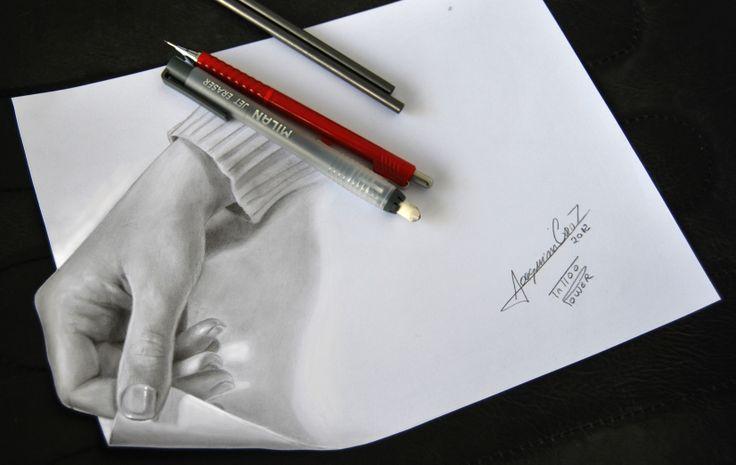 Кошками, рисунок 3 д рука