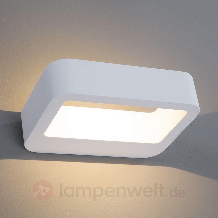 Elegante LED Gips-Wandleuchte Eike 9613028