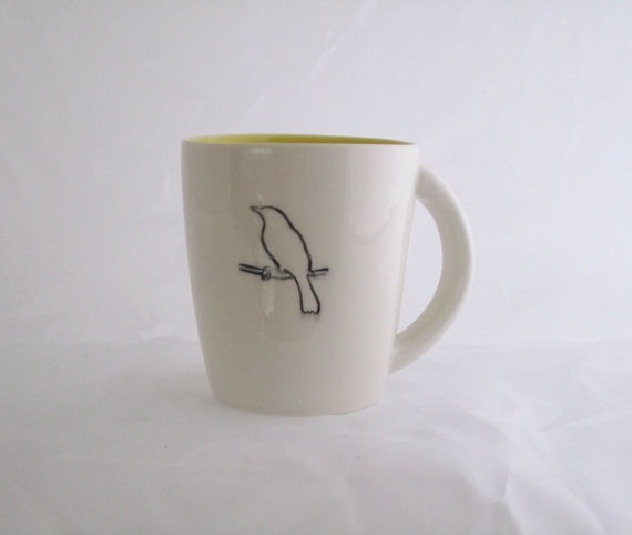 goldfinch 1 coffee mug by davistudio on Etsy, $32.00