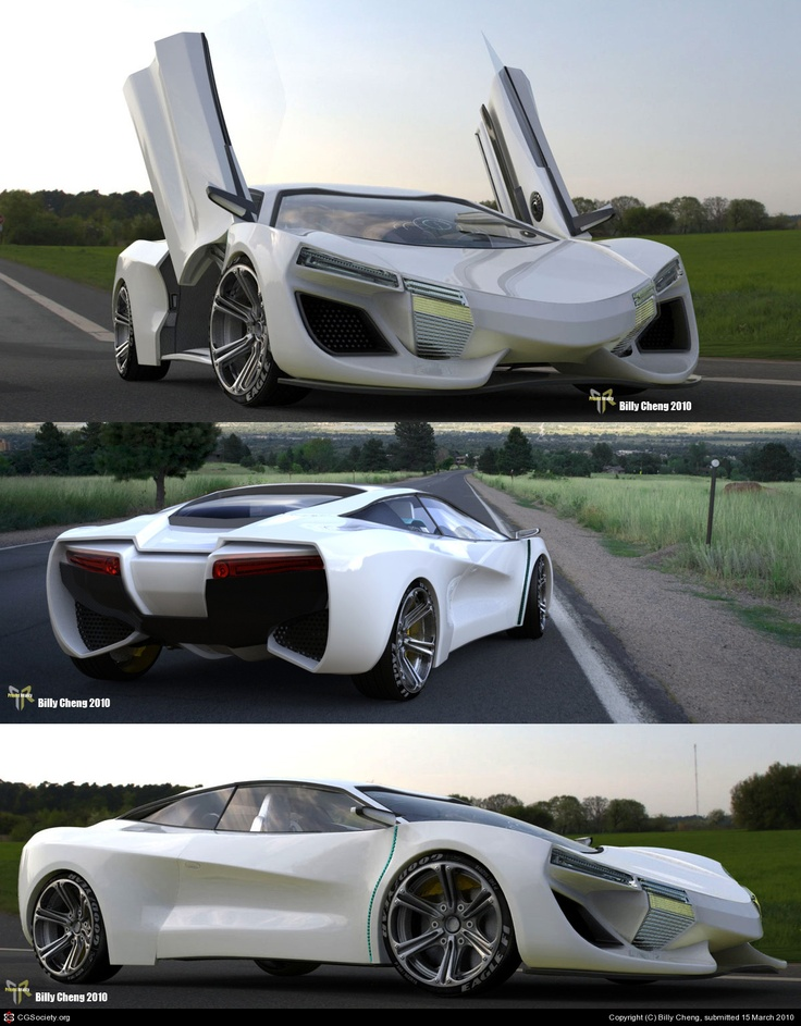 DX-8 Concept car Full Electric Vehicle by Billy Cheng