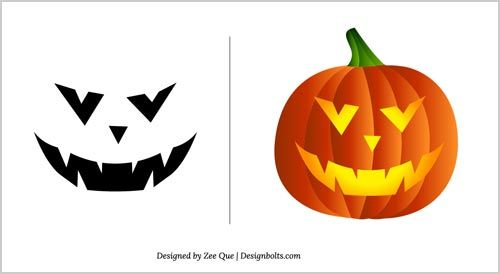 Halloween Free Scary Pumpkin Carving Patterns 2012   10 Scary Pumpkin Carving Templates