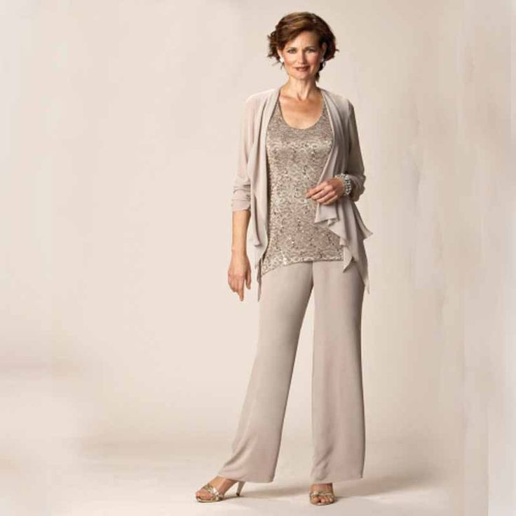 Elegant Switzerland Plus Size Mother Of The Bride Suit Wedding Bride Groom Mother Outfits Lace Chiffon Pant Suit Formal Women