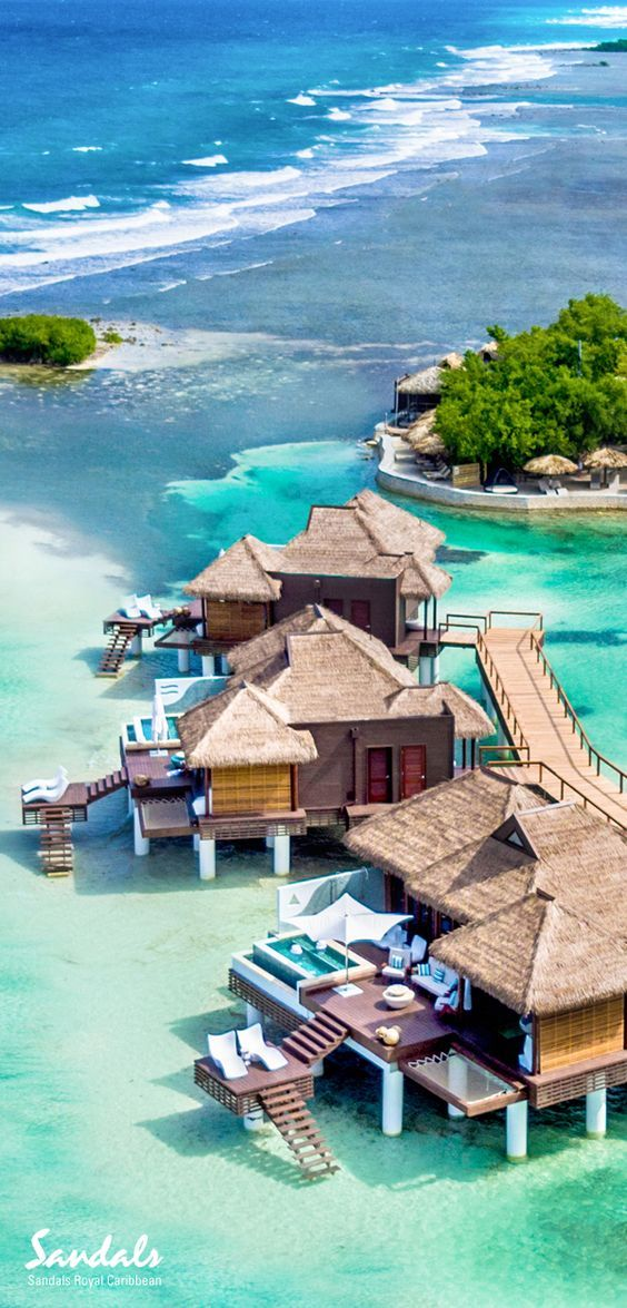 Over-the-Water Villas at Sandals Royal Caribbean convey an intimate connection to the Caribbean Sea. From floating water hammocks to private glass floors - your private villa delivers an immersive journey of the Caribbean's finest turquoise waters and rich marine life.