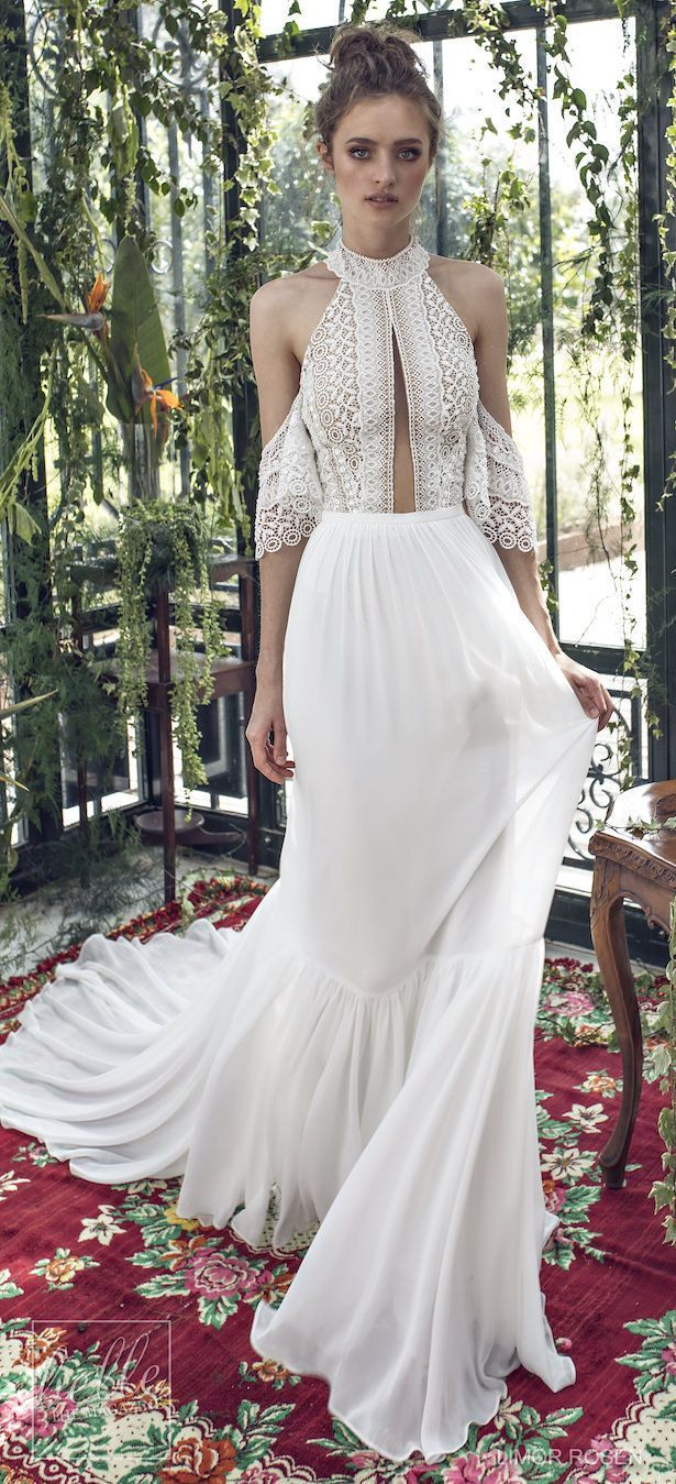 e6992b837549 XO by Limor Rosen 2019 Wedding Dresses - Luna boho halter wedding dress  with off the
