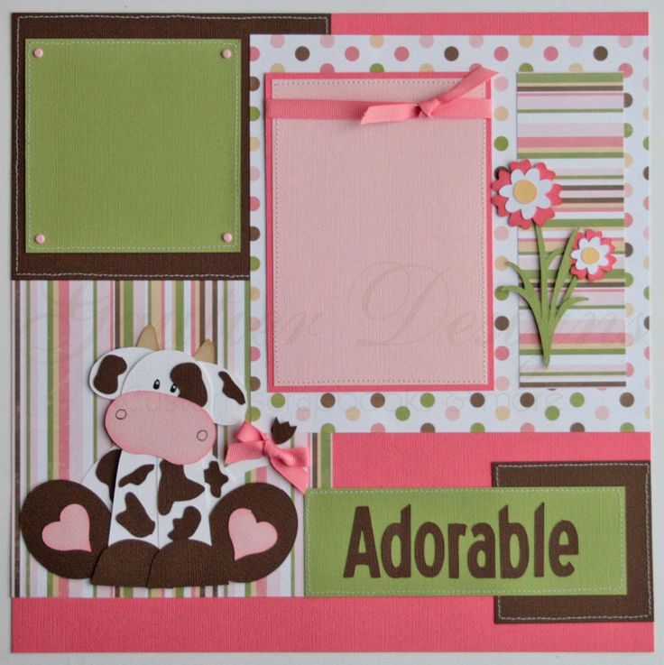 creative baby scrapbook pages