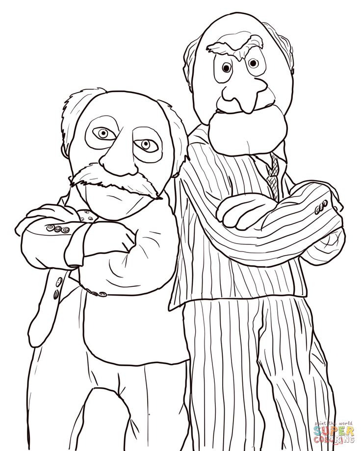 statler and waldorf coloring pages 5 ,colouring pictures