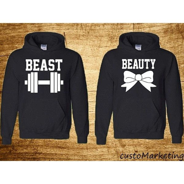 Couple Hoodie Beauty and Beast Perfect Couple Sweatshirts Beauty and... ($40) ❤ liked on Polyvore featuring tops, hoodies, sweatshirts, dark olive, women's clothing, sweatshirts hoodies, sweat tops, pullover hooded sweatshirt, hoodie sweatshirts and hooded sweatshirt