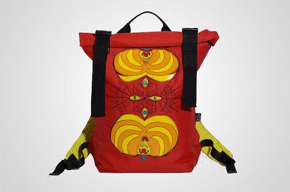 bagpack messenger bag by thePAUbag on Etsy