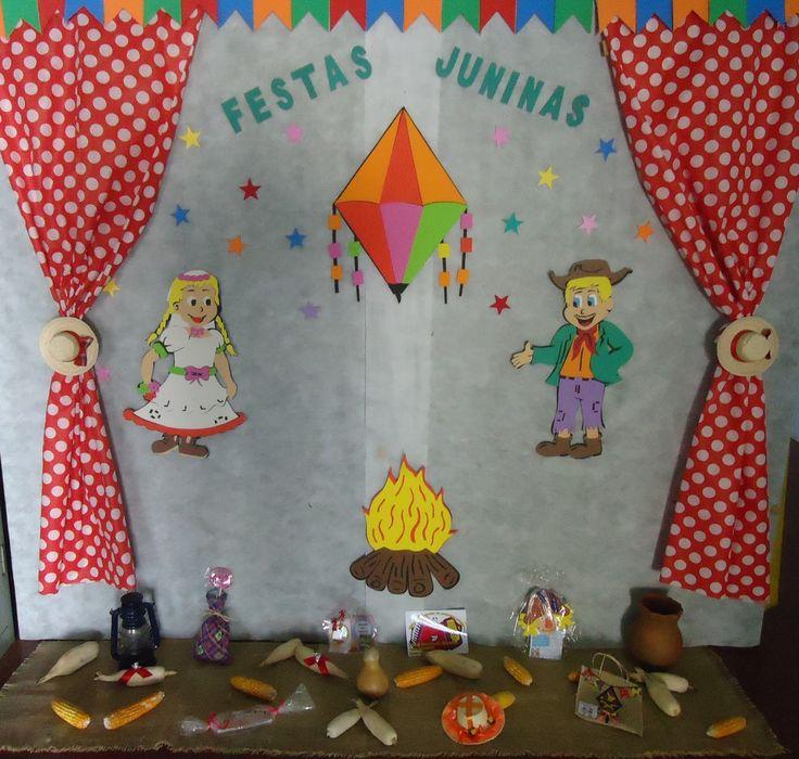 mural festa junina educação infantil - Pesquisa Google