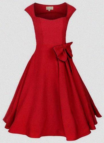Lindy Bop 'Grace' : Vintage 1950's Chic Robe de Soiree. Style Rockabilly. Parfaite Pour Soiree Dansante. Rouge Bengaline.