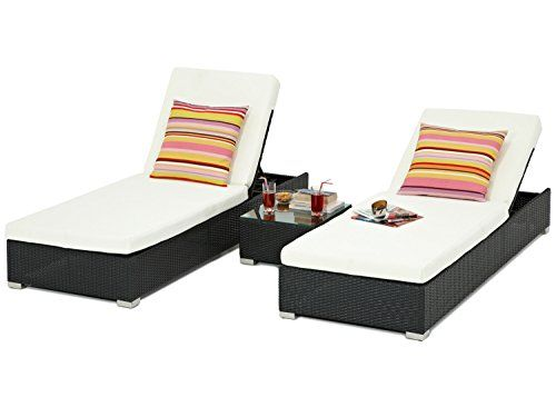 Napoli Outdoor Rattan Wicker Weave Garden Reclining Sun Lounger Furniture Set - Fully Assembled---495---