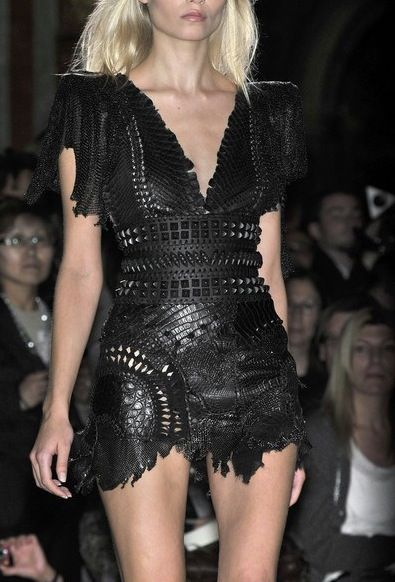 One of my favorite Balmain dresses...leather of course!